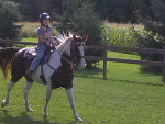 Me (3 yrs ago) riding Bella - (7 years)